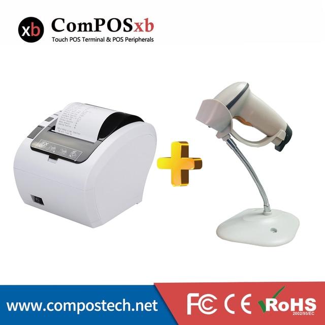 Lecteur de codes-barres BC2809 avec imprimante thermique de couleur blanche, 80mm, livraison gratuite 2