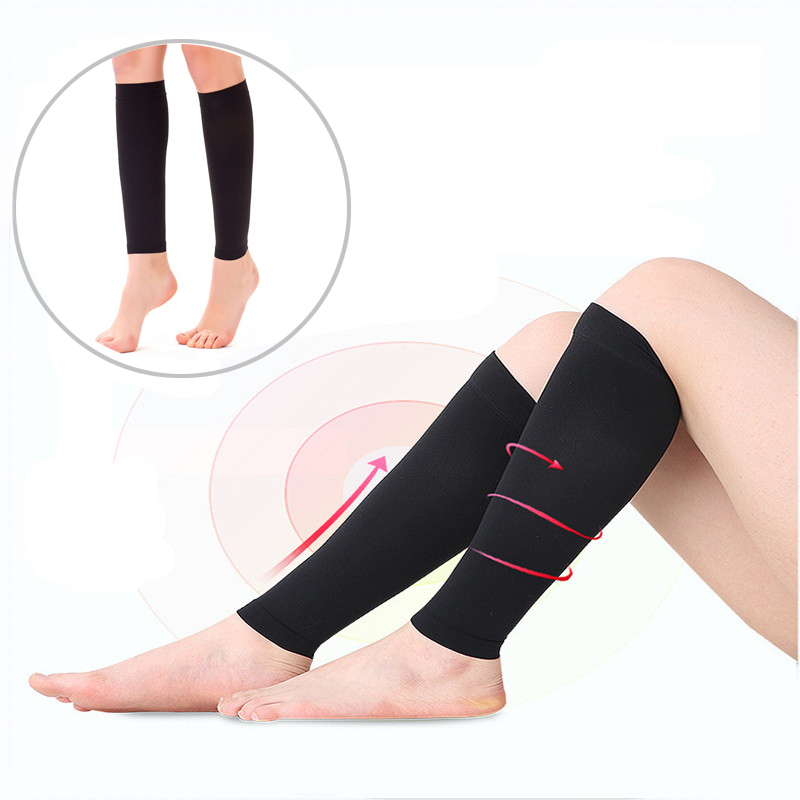 2PCs Weight Loss Elastic Slimming Leg Band Compression Socks Leg Shapper Calf Elbow Massager Anti-Varicose Veins Fitness Socks