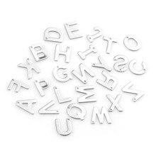 100 шт ювелирные изделия из нержавеющей стали смешанные буквы кулон античная сталь для браслетов и Колье металлические подвески для творчества для изготовления ювелирных изделий