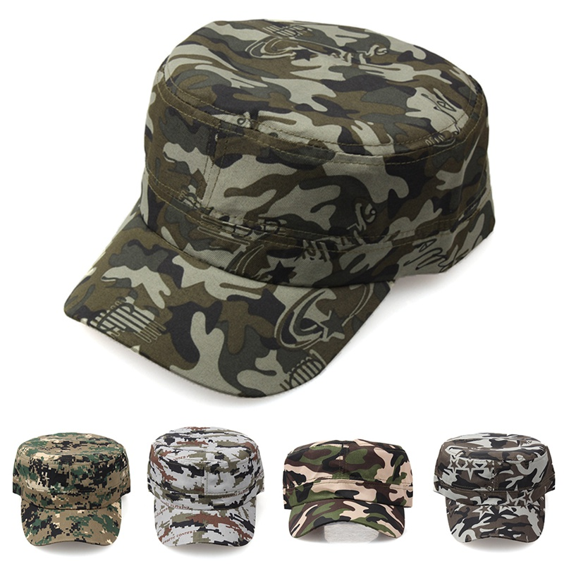 Classic Men Military  Caps Men's Women's Fitted Baseball Caps Adjustable Army Camouflage Sun Hats Outdoor Sports Camping Style