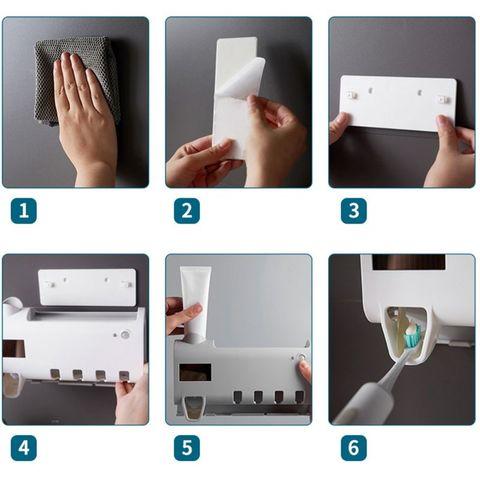 dispensador esterilizador titular escova de dentes banheiro mais limpo