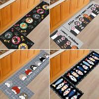2 unids/set antideslizante alfombra de cocina alfombras sala de estar balcón baño más barato impreso felpudo pasillo geométrico alfombra de baño