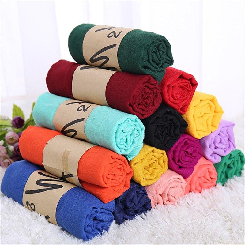 Luxe Merk Vrouwen Sjaal Katoen Hijab Sjaal Pashmina Lady Sjaals En Wraps Hoofd Sjaals Neck Bandana Mannen Sjaal/Zwart sjaals