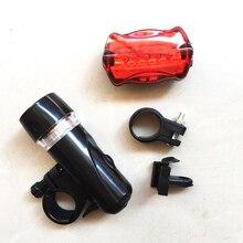 5 Led велосипедный передний головной светильник+ задний светильник, комплект, водонепроницаемый дорожный горный велосипед, задний светильник, велосипедный фонарь, светильник-вспышка