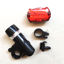 5 Led Bicycle Front Head Light+Tail