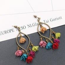 2020 Новые Креативные цветочные серьги женские европейские и