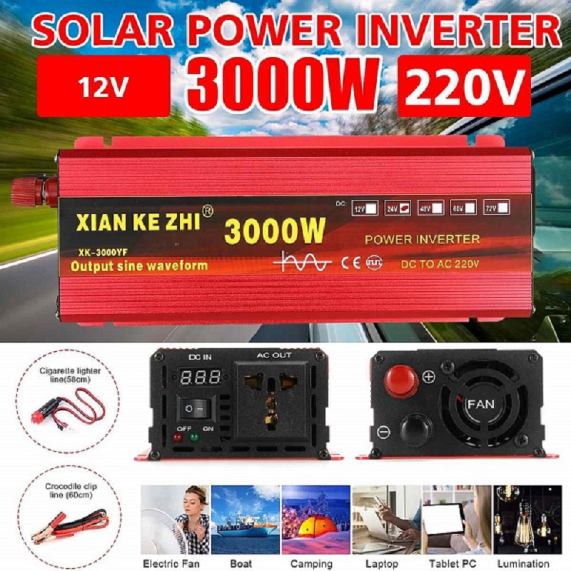Inverter 12V 220V 1600W 2000W 3000W To 220V Ac Pure Sine Wave Voltage Converter 12 220 Power Car Inverter