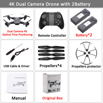 Visuo XS816 RC Drone with 50 Times Zoom WiFi FPV 4K Dual Camera Optical Flow Quadcopter Foldable Selfie Dron VS SG106 M70 20