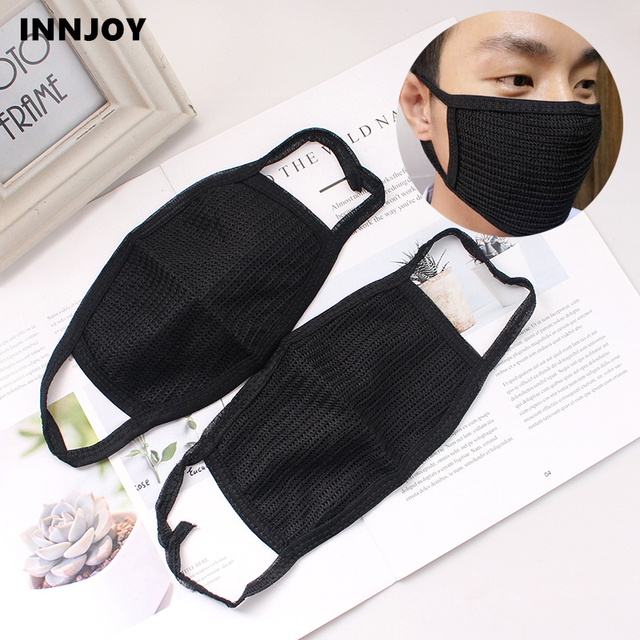 Black Cotton Yarn Masks Keep Warm Cotton PM2.5 Mask Camouflage Anti Dust Mouth Windproof Mouth-muffle Bacteria Proof Flu
