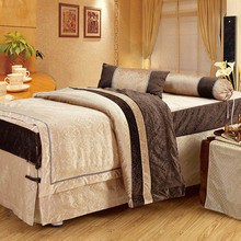 New Beauty Bed Cover Four Sets Of Stitching Style Bedding High-End Salon Physiotherapy Home Retro Easy To Clean