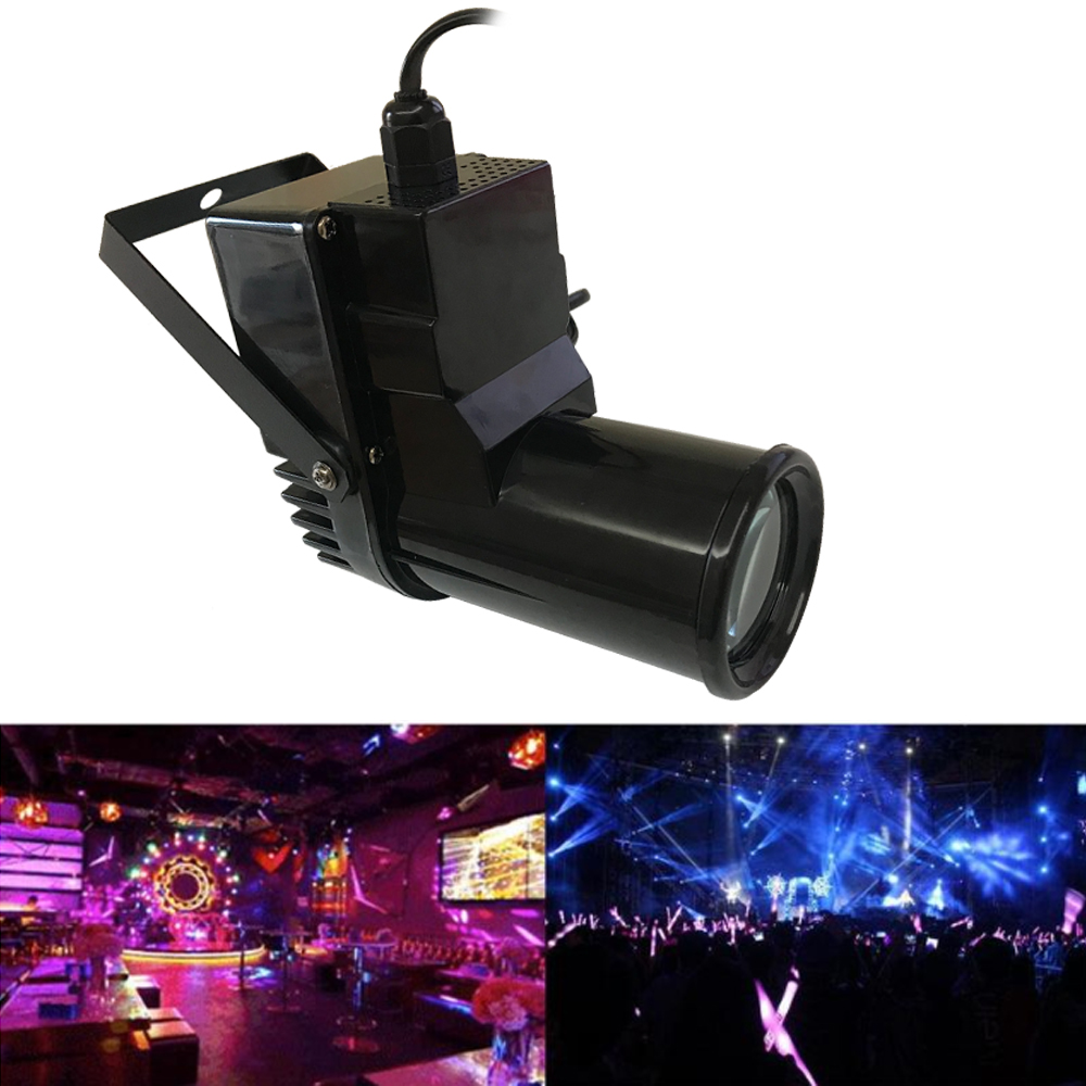 Mini LED Spotlight 10W Lighting DJ Stage Spot Effect Led Pinspot Light Spotlight For Discos Party Club Ktv Ball Lamp LED BEAM