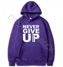 You'll Never Walk Alone Men Hoodies Never Give Up Man Casual  Mens Tops Sweatshirts women Sweatshirt Tops A116 never die alone