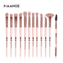 MAANGE Pro 3/5/12 Pcs Make-Up Pinsel Set Lidschatten Eyeliner Wimpern Augenbraue Pinsel Schönheit Machen up Blending Werkzeuge Maquiagem