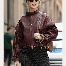 Femmes manteaux 100% en cuir véritable 2019 mode dame en peau de mouton naturelle manches longues vestes de haute qualité doux