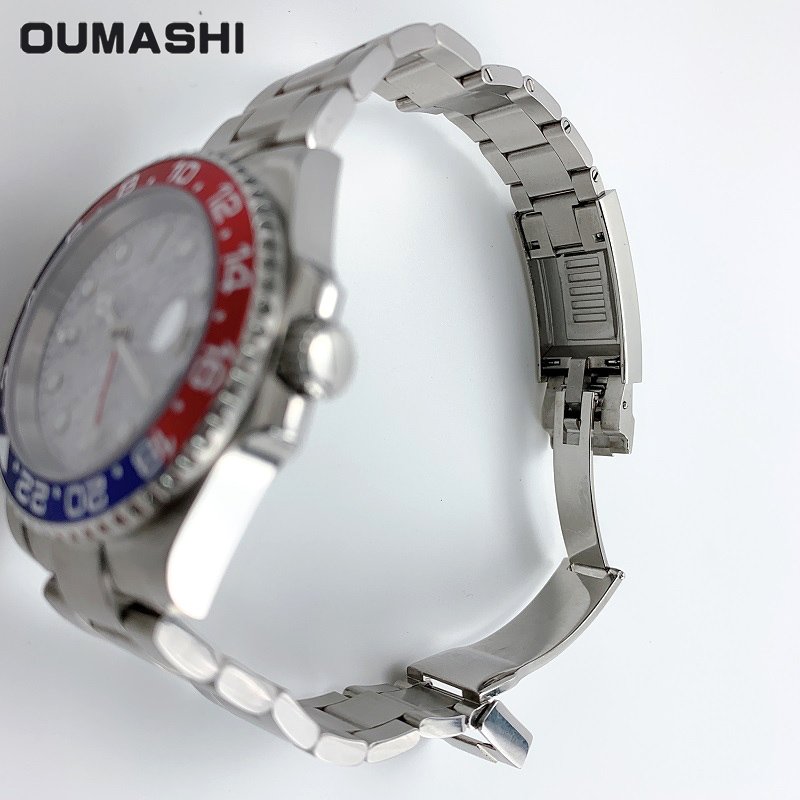 Watch Men Automatic Mechanical GMT 40MM Meteorite Dial Sapphire Crystal blue red Ceramic Bezel Waterproof Luminous - 5