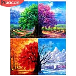 HUACAN 5D Diy Diamond Embroidery Tree Home Decoration Diamond Art Mosaic Landscape Painting Handmade Gift