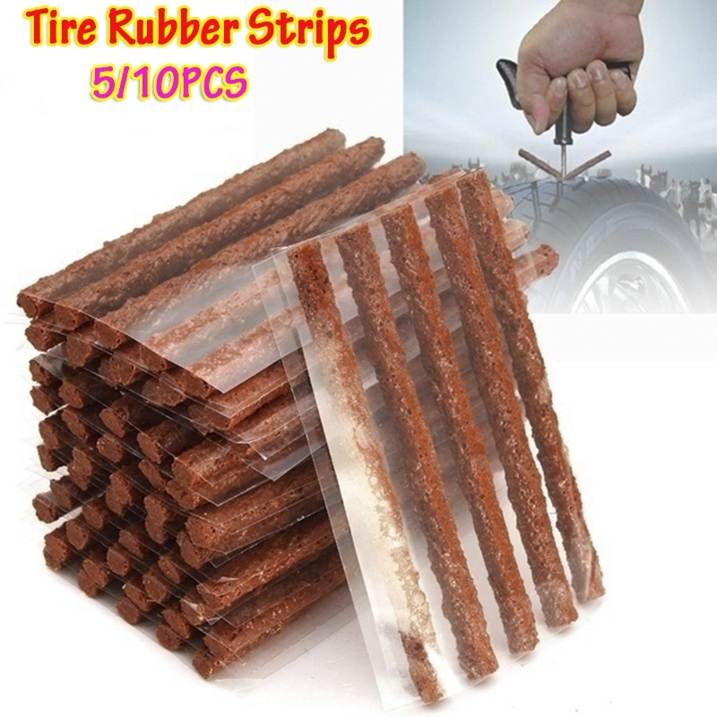 5/10Pcs Tubeless Tire Repairing Rubber Strips For Tyre Puncture Emergency Car Motorcycle Bike