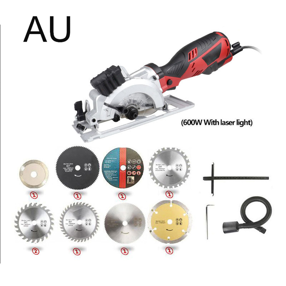DIY Mini Circular Saw With Laser Multifunction Handheld Electric Chainsaw Angle Grinder Power Conversion Chainsaw Converter Set