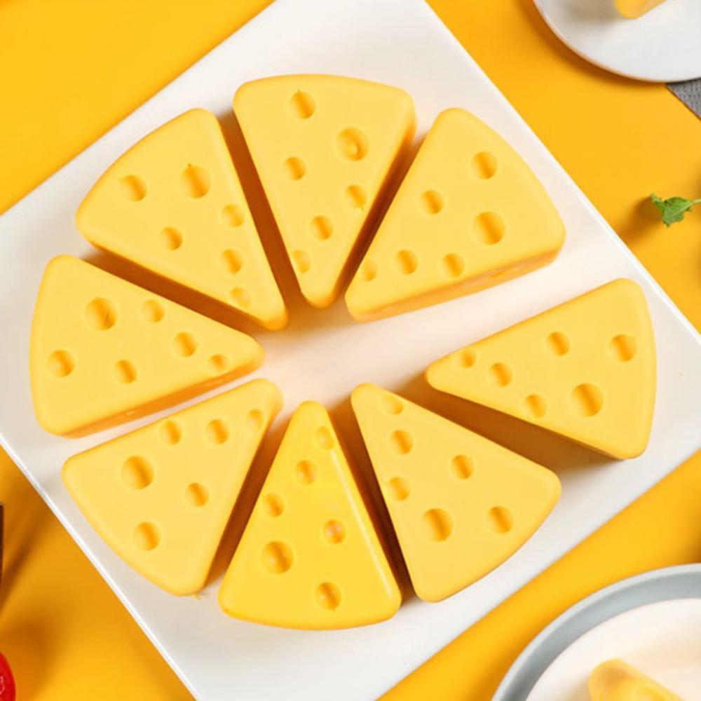 8 buraco forma de queijo antiaderente silicone molde de bolo de chocolate sobremesa pastelaria ferramenta de cozimento
