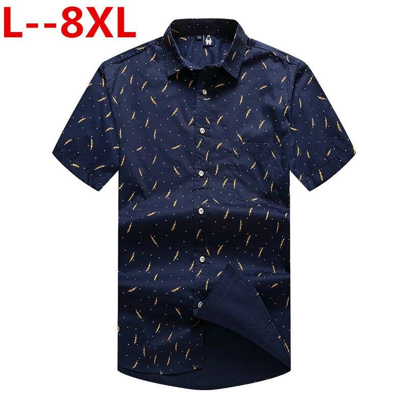 8XL 6XL 5XL Mens Summer Beach Hawaiian Shirt Short Sleeve Plus Size Floral Shirts Men Casual Holiday Vacation Clothing Camisas