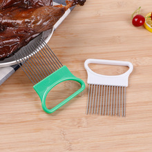 Stainless Steel Easy Cut Onion Holder Fork Cutter Slicer Vegetable Tomato Potato Kitchen Accessories