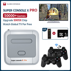 Super Console X Pro S905X HDMI WiFi Output Mini TV Video Game Player For PSP/PS1/N64/DC Games Dual system Built-in 50000+ Games