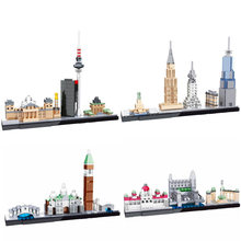 2019 New Architecture World Famous Skyline Compatible Legoingtrye Building Blocks Kit City Classic Model Kids Toys Gifts  Bricks bela architecture london skyline collection gift building blocks sets city bricks classic model kids toys compatible legoe