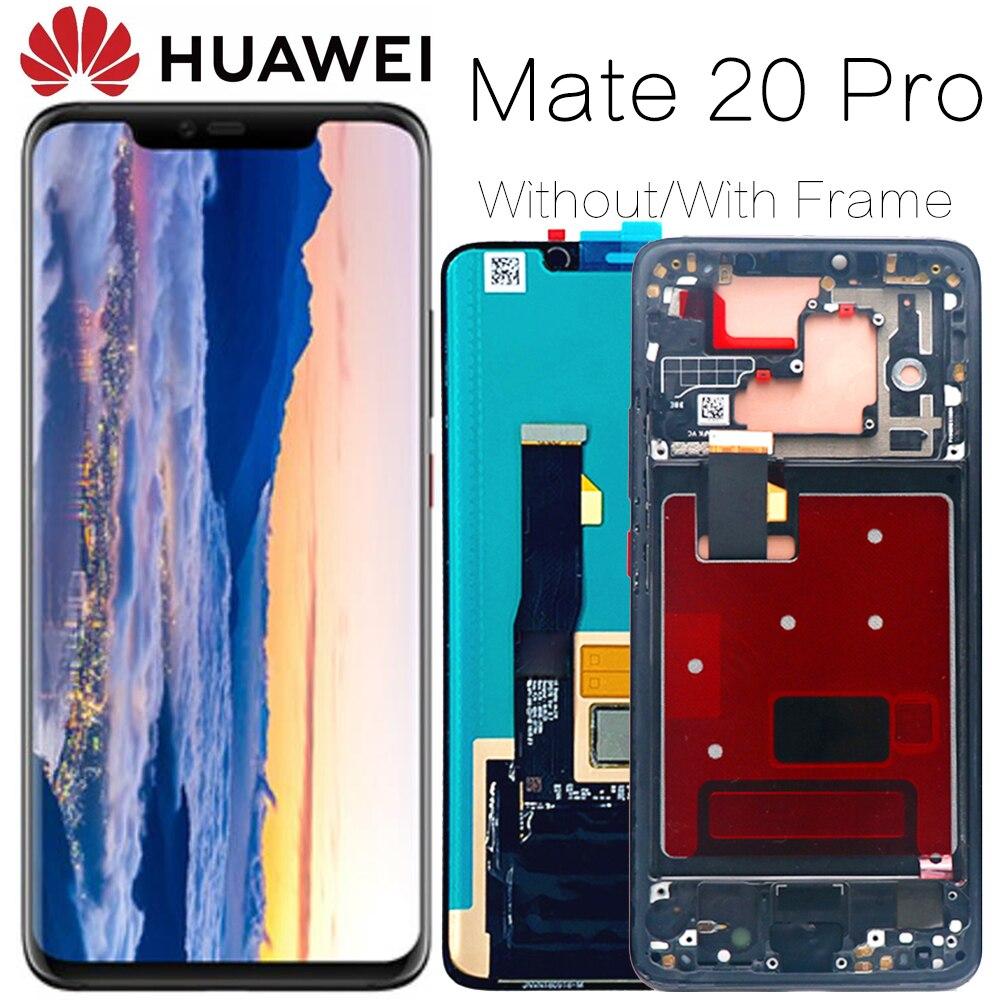 Original 6,39 ''Display mit rahmen fingerprint Ersatz für Huawei Mate 20 Pro LCD Touch Screen LYA-L29 Digitizer Montage