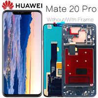 Oryginalny wyświetlacz 6.39 ''z ramką wymiana linii papilarnych dla Huawei Mate 20 Pro LCD z ekranem dotykowym LYA-L29 Digitizer Assembly