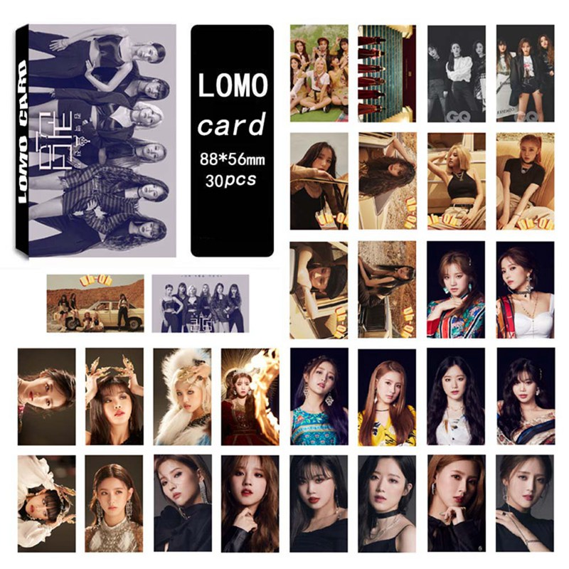 30Pcs/Set Gidle Photocard Photo Lomo Card Pictures Postcard Stationery Decoration Supplies Fan Gifts