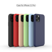 DATALAND liquid silicone phone case for iPhone11 MAX Pro 6 6S 7 8 Plus X XR XS Max smart soft silicon cases back cover Shell