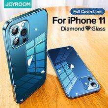 Joyroom – coque de Protection en verre TPU pour iPhone, compatible modèles 11, 12 Pro Max, 9H