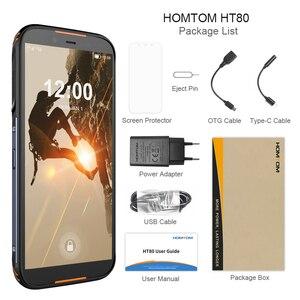 Image 5 - הגלובלי גרסה HOMTOM HT80 NFC פונקציה IP68 Waterproof Smartphone אנדרואיד 10.0 5.5 אינץ אלחוטי תשלום SOS נייד טלפון new2019