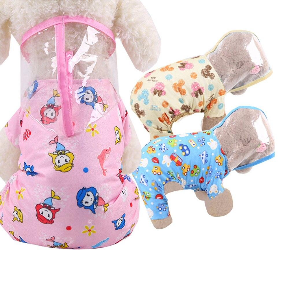À prova dwaterproof água capa de chuva do cão com capuz transparente pet filhote de cachorro capa de chuva roupas roupas roupas macacão chuva respirável rainwear