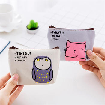 Fashion Unisex Oxford Cloth Purse Card Key Mini Purse Pouch Canvas Bag Small Zipper Coin Purse Card Holder Wallet Gifts image