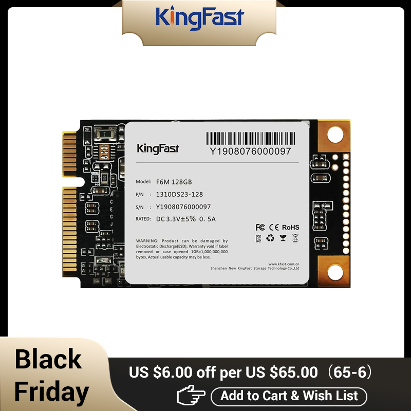 Kingfast mSATA SSD 128gb 256gb 512GB 1TB 2TB 3x5cm mini half size small Internal Solid State hard Drive for laptop and notebook|Internal Solid…