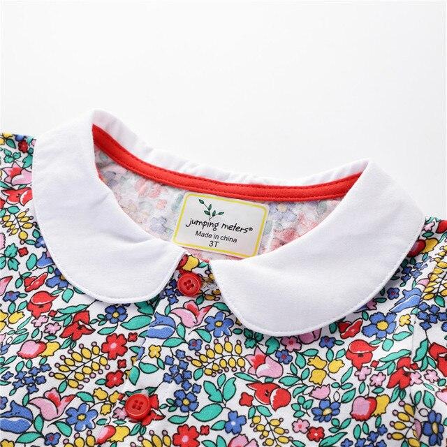 Skoki metrów lato kwiatowy sukienki dla dziewczynek bawełna księżniczka odzież na przyjęcia dla dzieci sukeinka w kwiaty Top marka urodziny sukienki dla dziewczynek