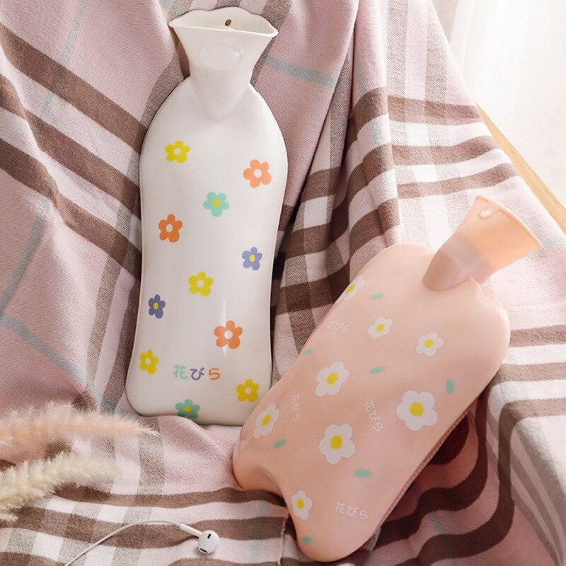Modelo de impresión Linda botella de agua caliente de silicona botella de agua caliente recargable producto de invierno caliente para estudiantes 2019 chaqueta de invierno para niños, ropa de bebé, niña, traje de nieve, abrigo de Año Nuevo, chaqueta con capucha para niños, Parka para niños y niñas 7 colores