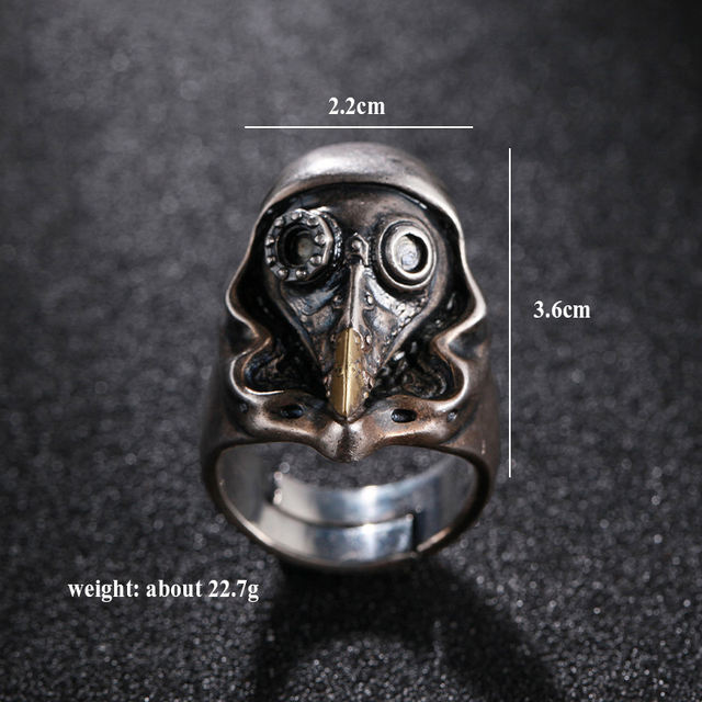 925 STERLING SILVER CROW SKULL RINGS
