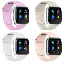 Akıllı saat kayışı Fitbit Versa Band için silikon yedek Quick Release bileklik bilezik Band Fitbit Versa 2