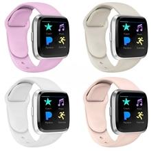 Bracelet de montre intelligente pour Fitbit Versa Bracelet de remplacement en Silicone Bracelet à dégagement rapide pour Fitbit Versa 2
