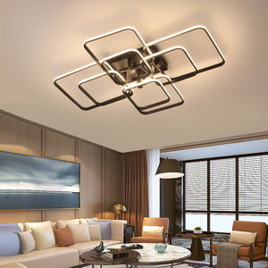 Image 3 - Square Circel Rings Ceiling Lights  For Living Room Bedroom Home AC85 265V Modern Led Ceiling Lamp Fixtures lustre plafonnier