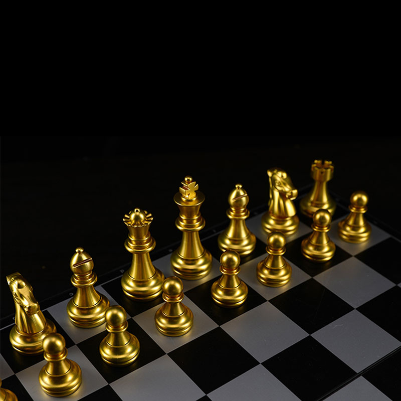 Magnetic Chess Board Game Gold Silver Folding Set//High quality Chess size 32 MSK