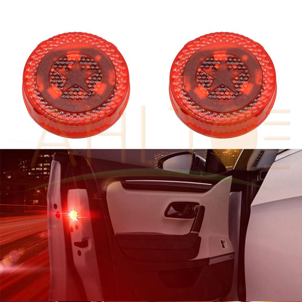Red Magnetic Wireless LED Car Door Opening Warning Lights Waterproof Strobe Flashing Anti Rear-end Collision led Safety Lamps