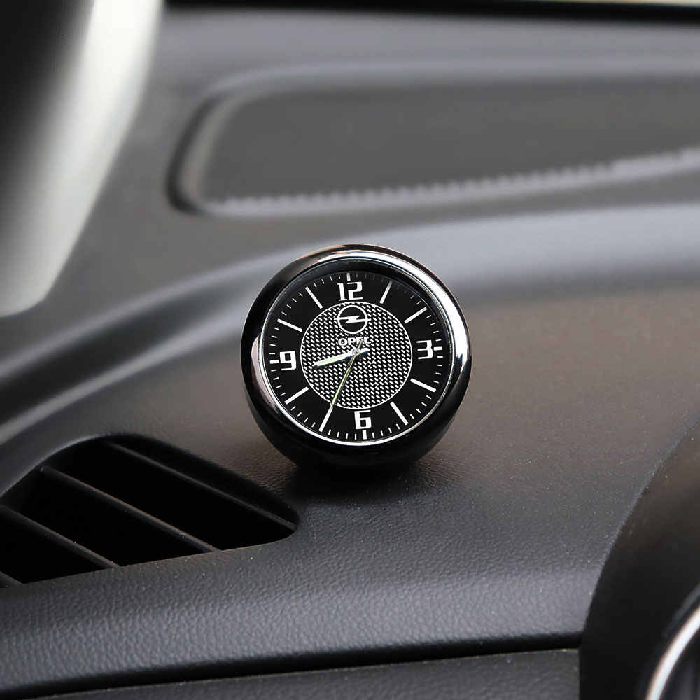 1Pcs Auto Digital Interior Mobil Kuarsa Jam Dekorasi Ornamen untuk Opel Astra H J Antara Vectra Vivaro Omega meriva Yang