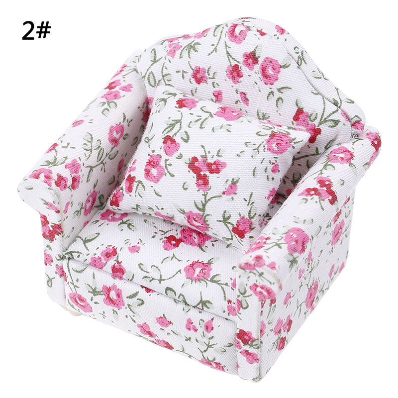 New Arrive Simulation Small Sofa Stool Chair Furniture Model Toys for Doll House Decoration Dollhouse Miniature Accessories 4