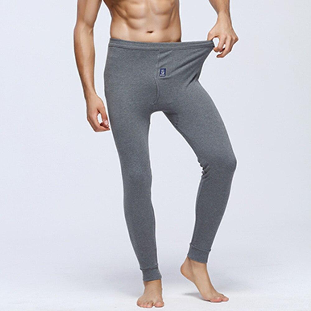 Autumn Winter Men Oversize Warm Sleep Bottoms 3D Space Soft Long Underwear Cotton Pajamas Men Pants M-XXXL Home Wear