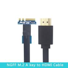 Ngff m.2 uma chave para adaptador de cabo hdmi para mini pci-e versão exp gdc adaptador de placa gráfica para portátil