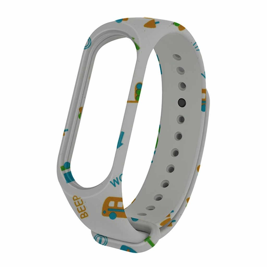 Di Smart Accessory Sport Cinturino In Silicone Morbido Per Xiao mi mi fascia 3 Banda di Sostituzione della Cinghia Della Fascia Del Braccialetto Per Xiao mi mi fascia 4/3