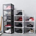 Ящик для обуви большой емкости  прозрачная пластиковая коробка для обуви  прозрачная пластиковая коробка для хранения обуви  органайзер дл...